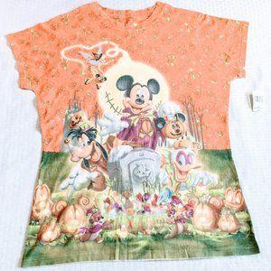 NWT Deadstock Disneyworld 2008 AOP Halloween Tee